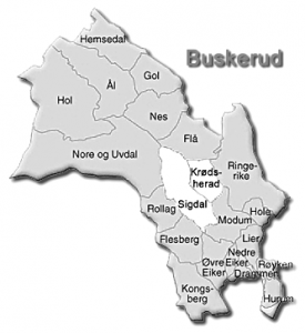 Map of Buskerud, Norway