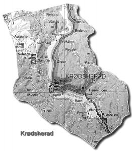 Map of Krødsherad